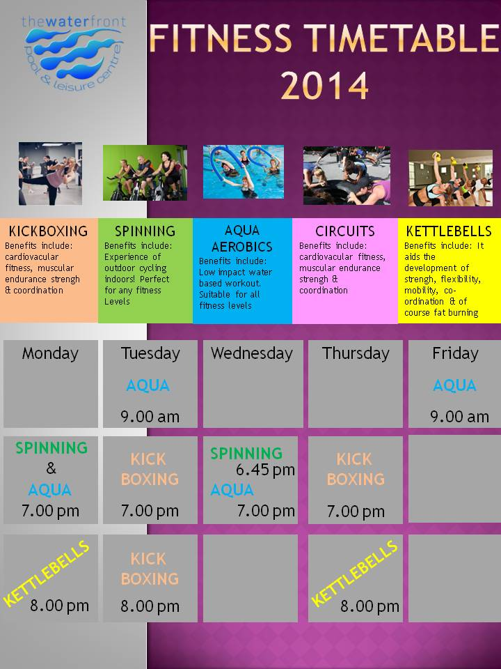 Fitness Timetable 2014fb The Waterfront Pool Leisure