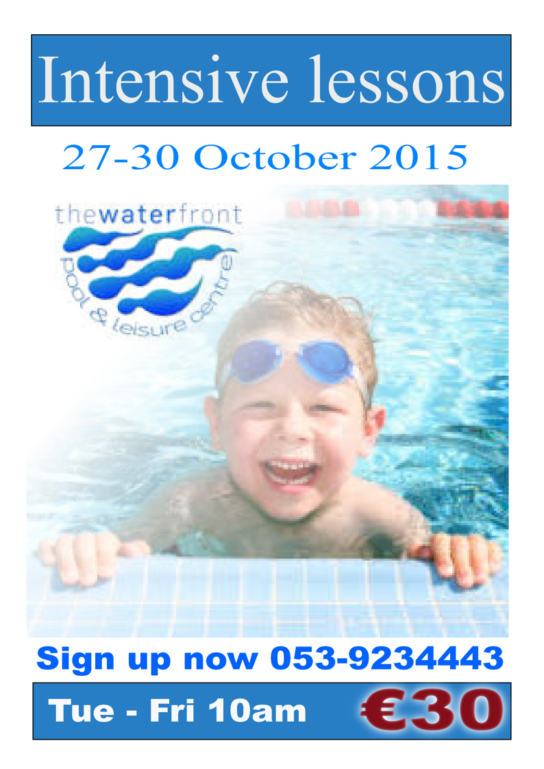 Intensive swimming lessons 27-30 October 2015